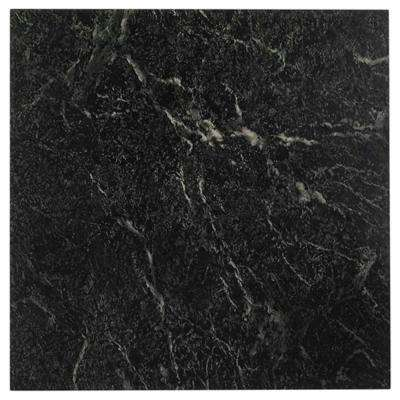 Nexus Black 12 in. x 12 in. Peel and Stick Stone Vinyl Tile (20 sq. ft. / case)