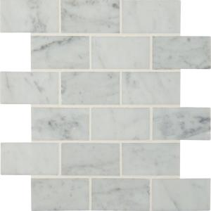 Msi Carrara 12 In X 24 Glazed Polished Porcelain Floor And Wall