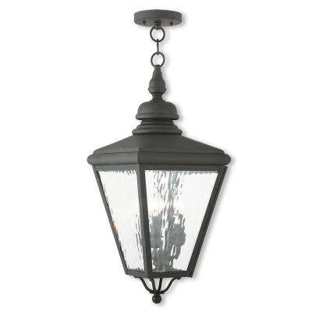 Cambridge Black 3-Light Outdoor Hanging Lantern