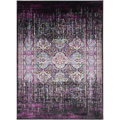 Madrid Purple 2 ft. x 3 ft. Distressed Area Rug