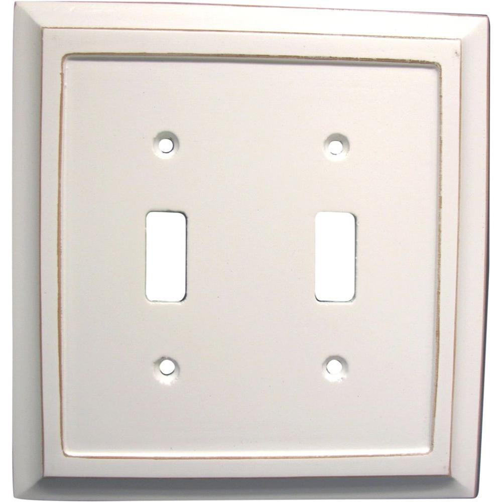 Plug And Light Switch Covers Amerelle Savannah 2 Toggle Wall Plate4040Ttdw  The Home Depot