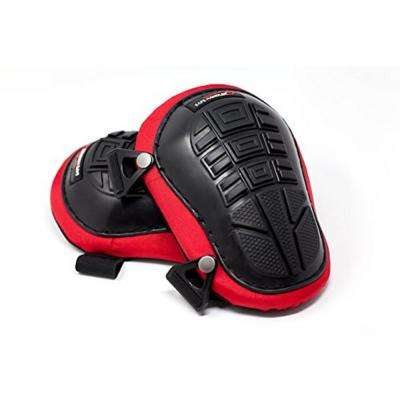 Professional Knee Pads with Heavy-Duty Foam and Gel (Foam Gel Red)