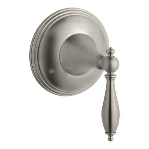 Finial Traditional 1-Handle Transfer Valve Trim Kit in Vibrant Brushed Nickel (Valve Not Included)
