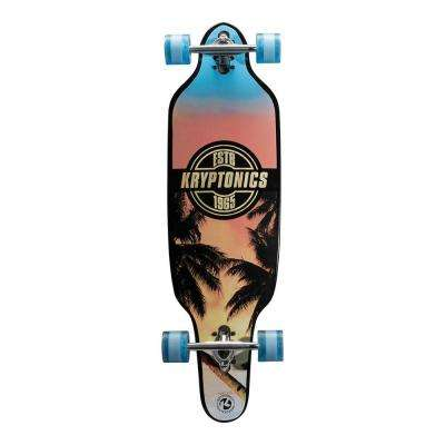 37 in. Staycation Drop-Through Longboard Complete Skateboard