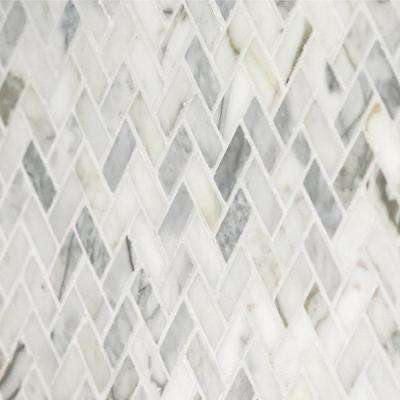 Stone Decor Fog 11 in. x 12 in. x 10 mm Marble Mosaic Floor and Wall Tile (0.83 sq. ft. / piece)