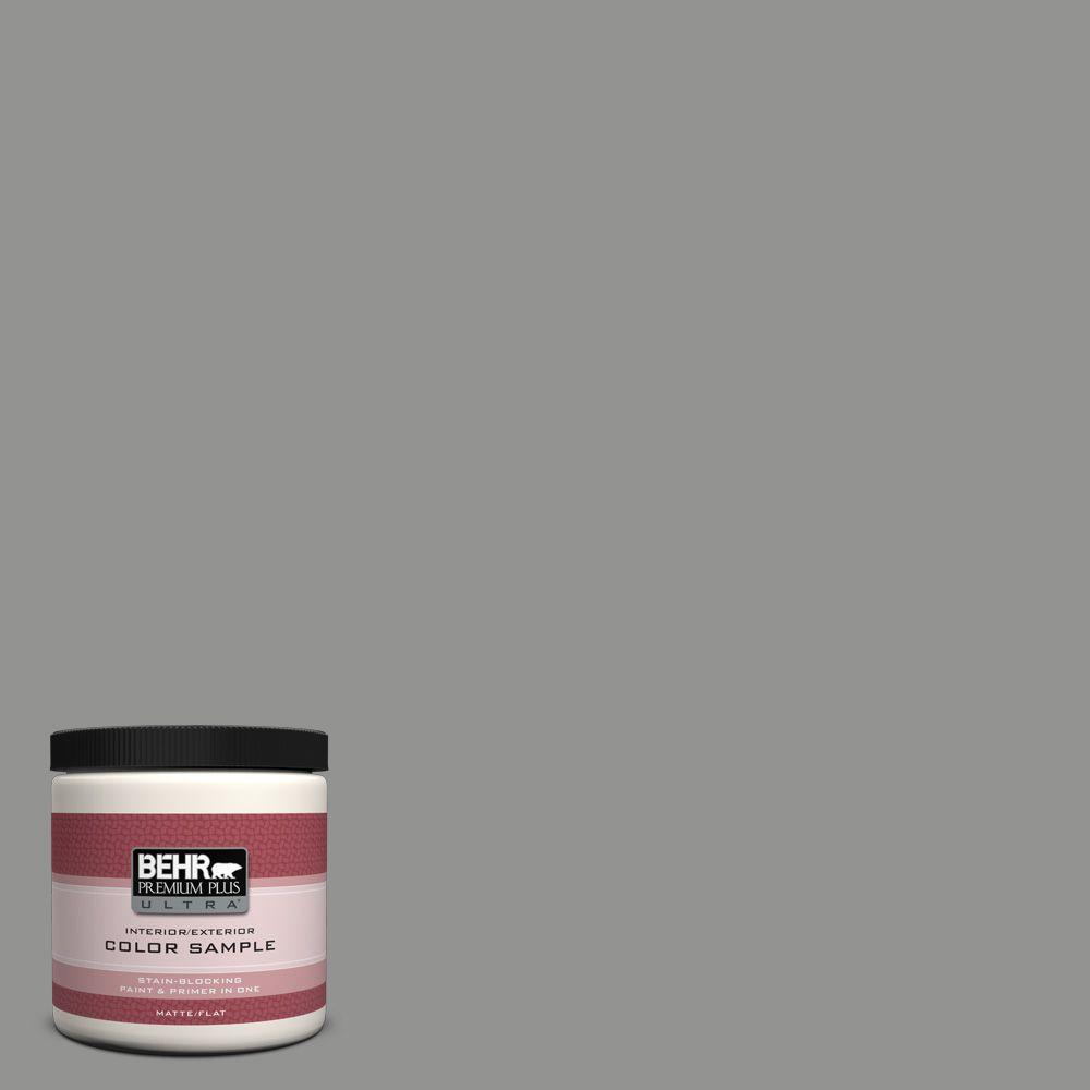 BEHR Premium Plus Ultra 8 oz. #780F-5 Anonymous Matte Interior/Exterior Paint and Primer in One Sample