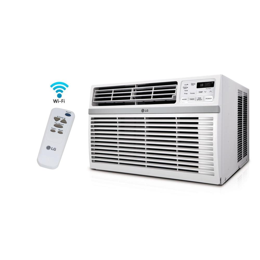 LG Electronics 8,000 BTU Window Smart (Wi Fi) Air Conditioner With Remote,