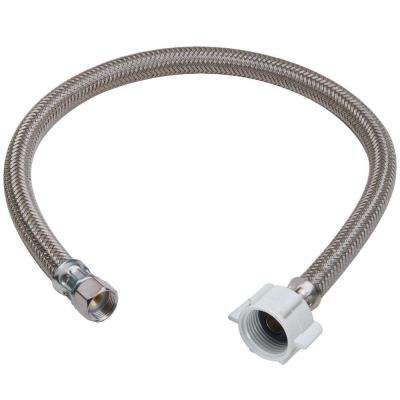 3/8 in. Compression x 7/8 in. Ballcock Nut x 12 in. Braided Polymer Toilet Connector