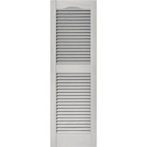 Louvered Vinyl Exterior Shutters Pair In #030 Paintable