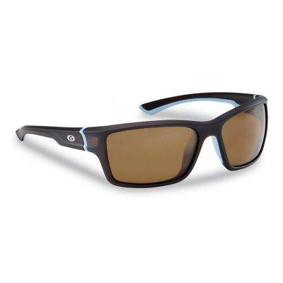 Cove Polarized Sunglasses Crystal Tobacco Frame with Amber Lens