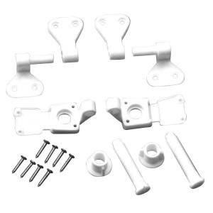 Everbilt Toilet Seat Hinges in White by Everbilt
