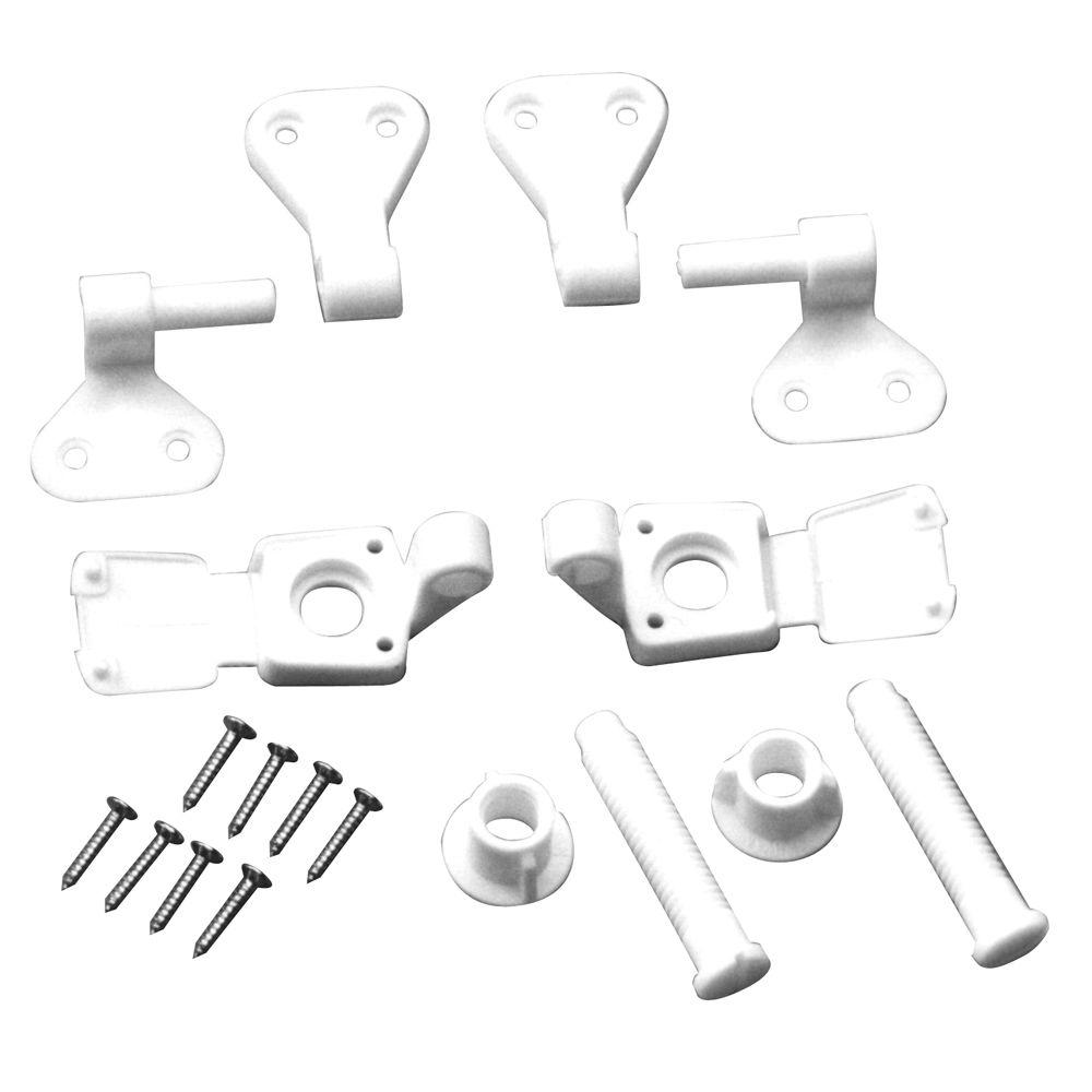 Everbilt Toilet Seat Hinges in White 88018   The Home Depot