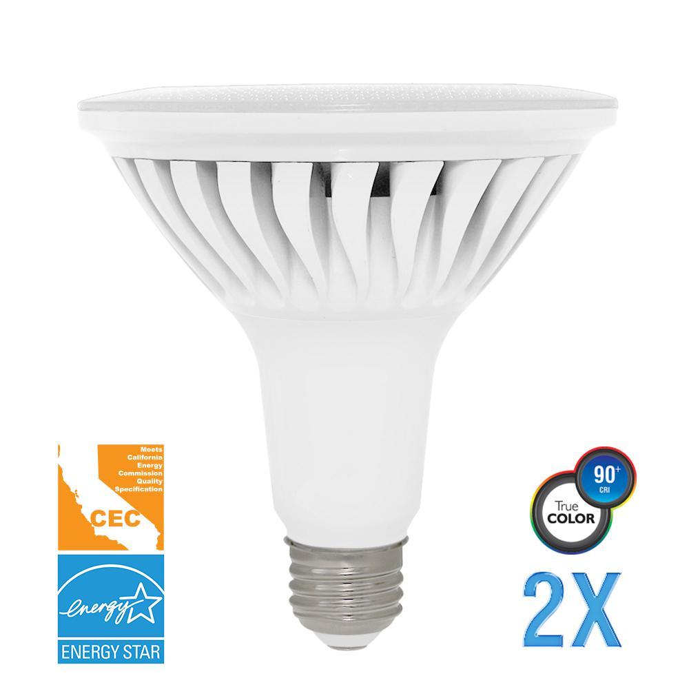 120W Equivalent Soft White PAR38 Dimmable LED CEC-Certified Light Bulb (2-Pack)
