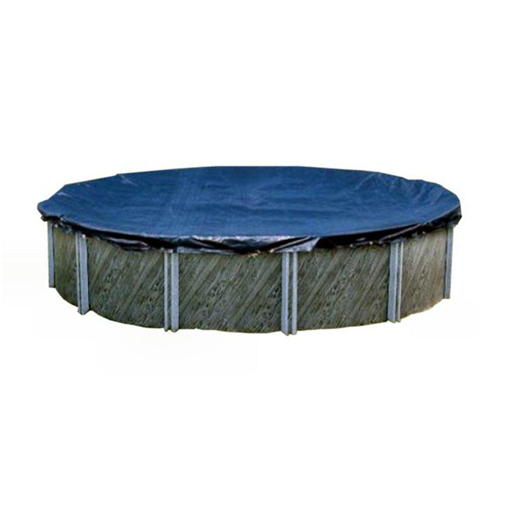 Swimline 30 ft. L x 30 ft. W Round Blue Above Ground Winter Swimming Pool Cover