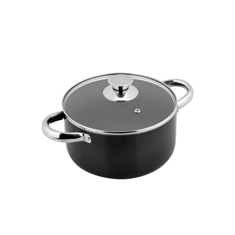 Solaris Pro 1.6 Qt. Non-Stick Stock Pot with Glass Lid