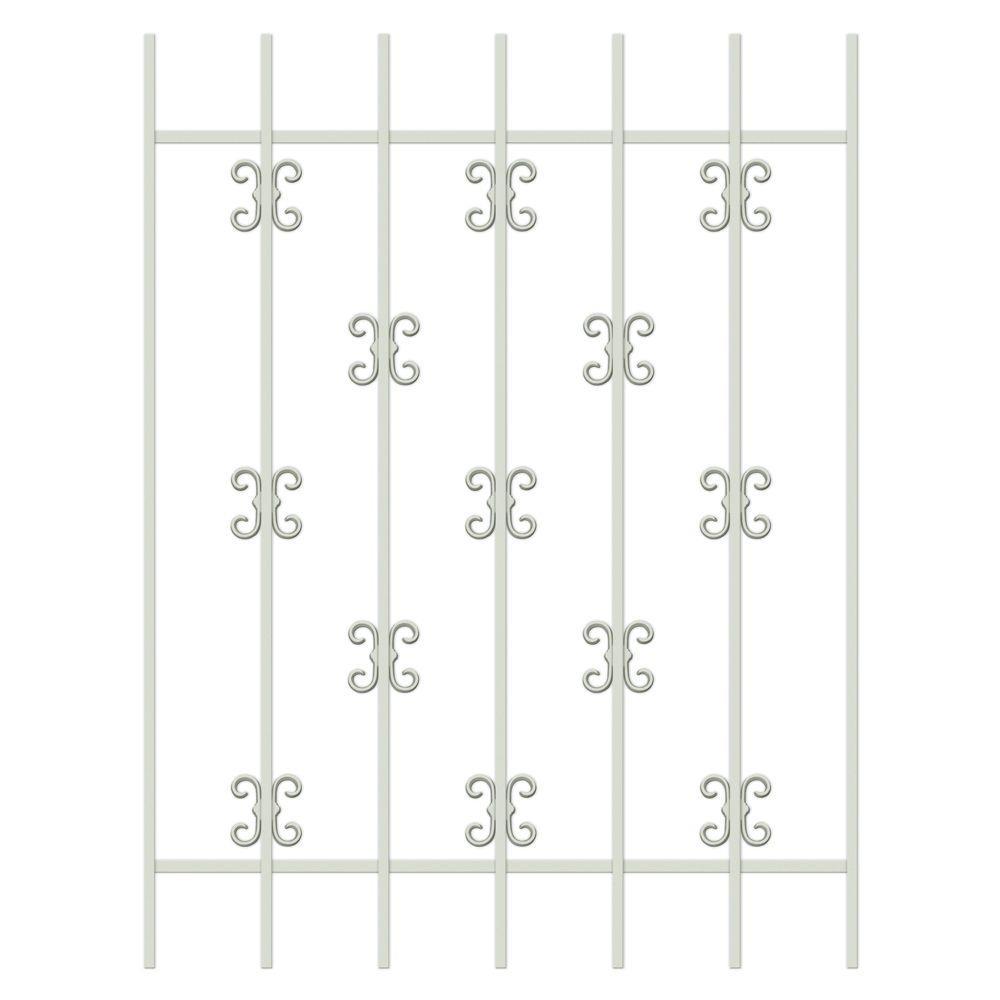 Unique Home Designs Moorish Lace 36 in. x 48 in. Almond 7-Bar Window Guard-DISCONTINUED