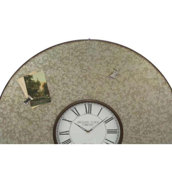 32 in. Round Metal Wall Clock with Magnets