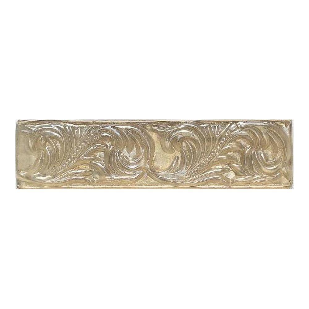 Daltile Salerno Smoky Topaz 3 in. x 10 in. Glass Decorative Wall Tile