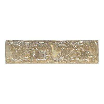 Salerno Smoky Topaz 3 in. x 10 in. Glass Decorative Wall Tile