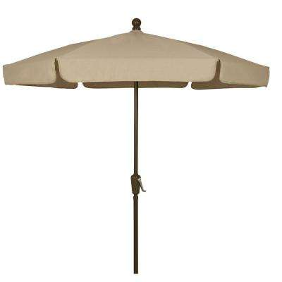 7.5 ft. Patio Umbrella in Beige