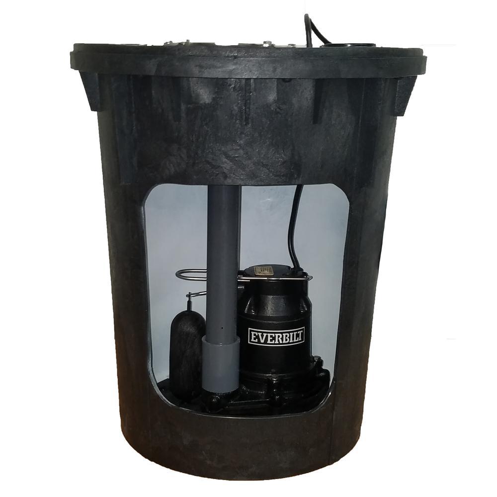 Everbilt Pre-Plumbed Sump Pump System-THD1095
