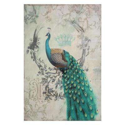 "35 in. x 24 in. ""Peacock Poise II"" Printed Contemporary Artwork"