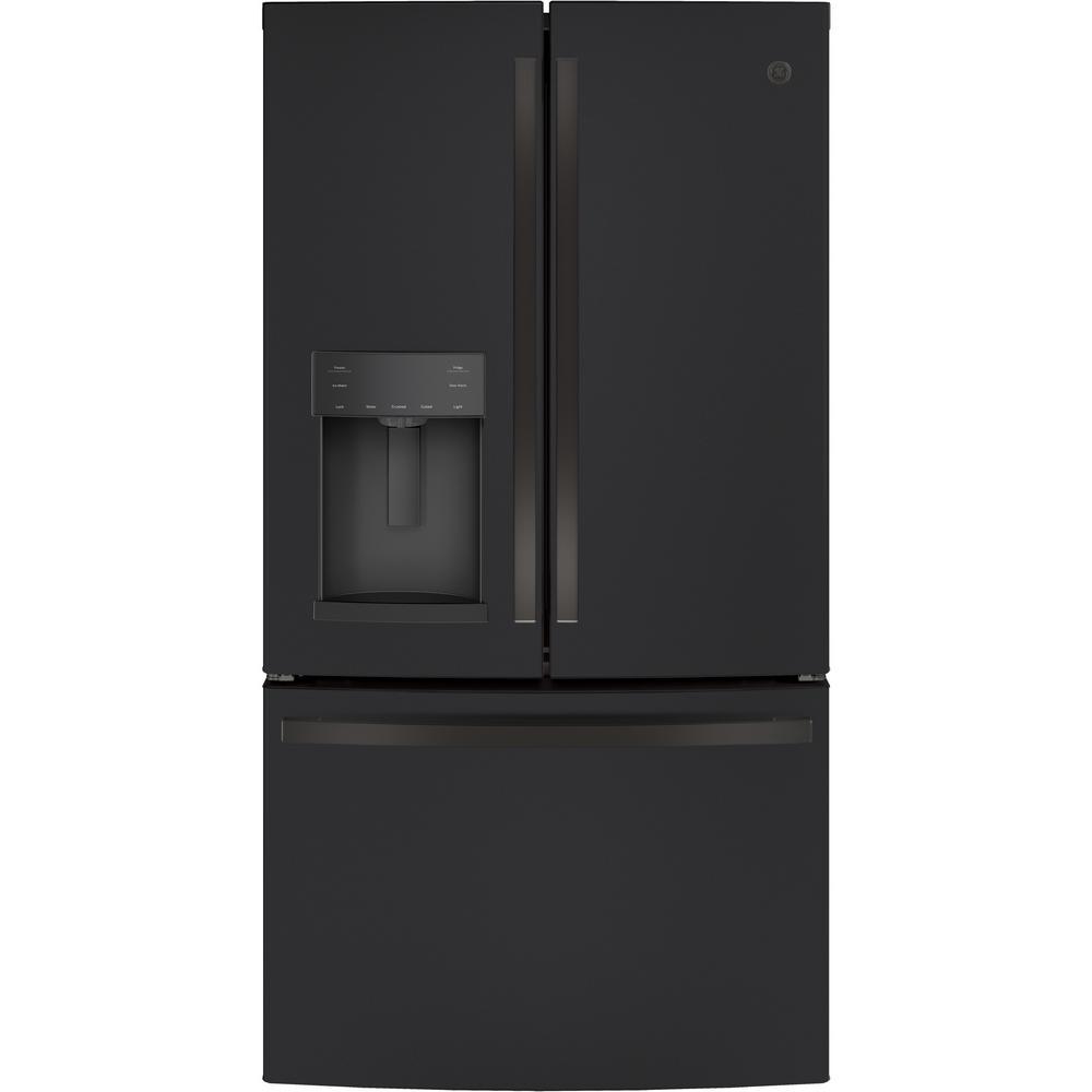 27.8 cu. ft. French Door Refrigerator in Black Slate, Fingerprint Resistant and ENERGY STAR