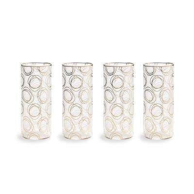 Bubbly Bar Glass 13 oz. Swirl Highball (Set of 4)