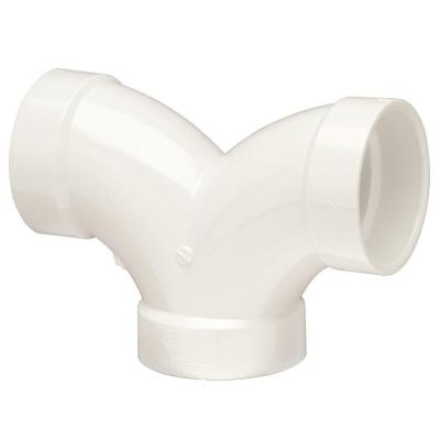 2 in. PVC DWV Double 90-Degree All Hub Elbow Fitting