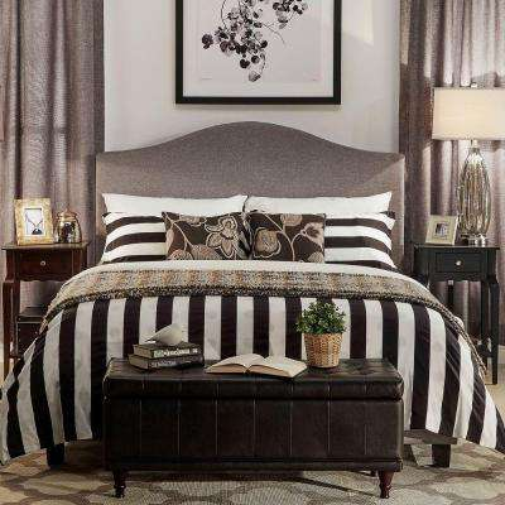 Mahonia Grey Full Upholstered Bed