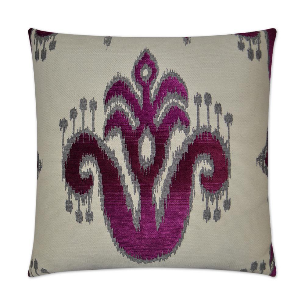 Caseeah Fuschia Feather Down 24 in. x 24 in. Decorative Throw Pillow