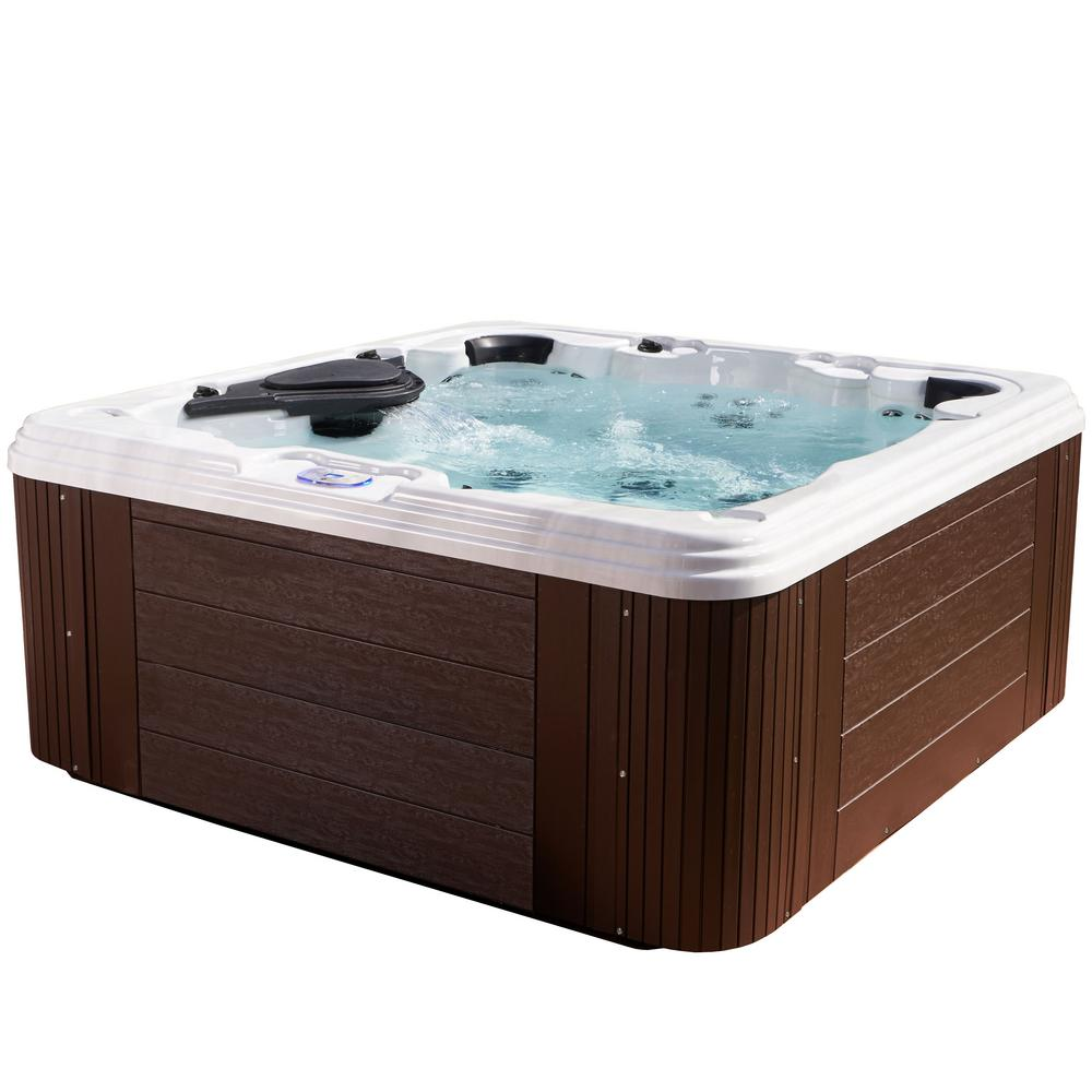 AquaLife Providence 7-Person 60-Jet Standard Hot Tub in E...