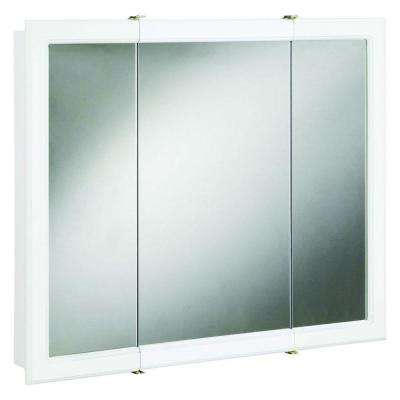 Concord 48 in. x 30 in. Tri-View Surface-Mount Medicine Cabinet in White Gloss