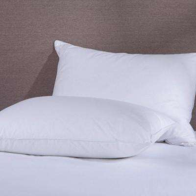Puredown 50% Down and 50% Feather Pillow Twin Pack King in White