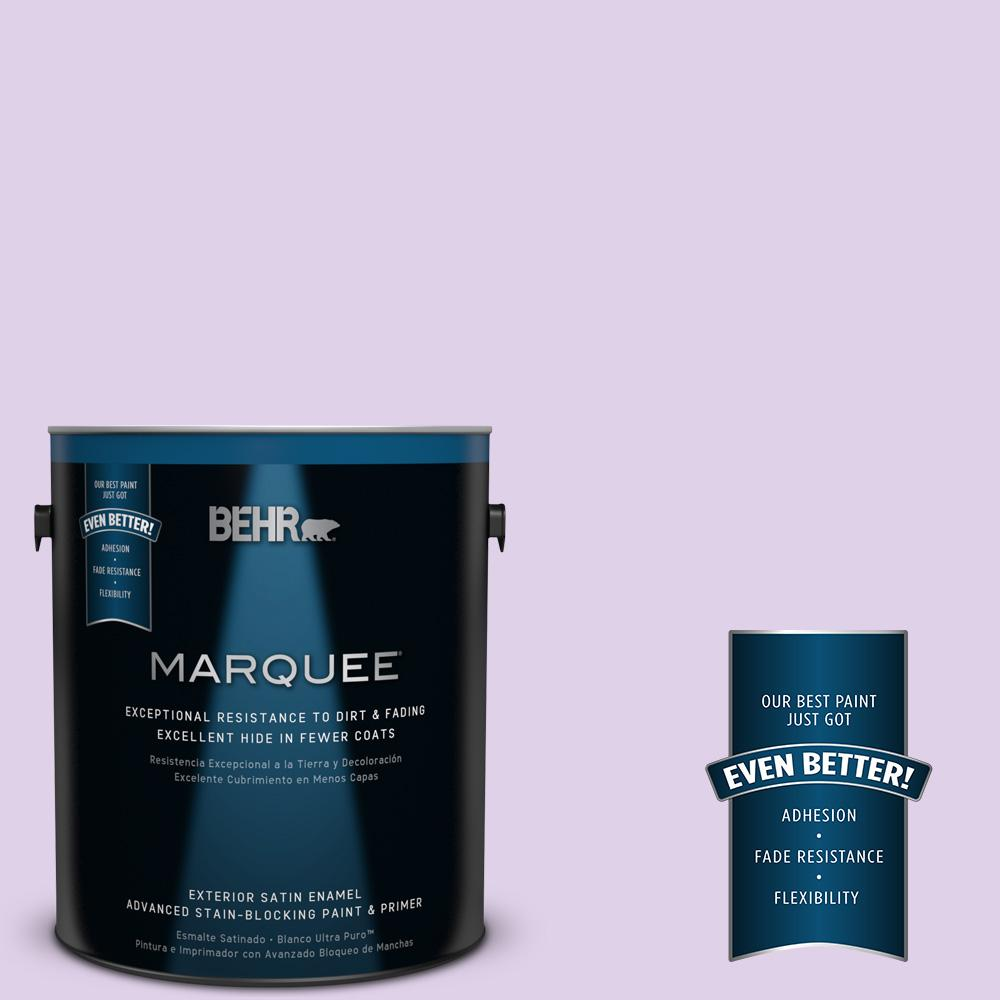 BEHR MARQUEE 1-gal. #P570-1 Teary Eyed Satin Enamel Exterior Paint