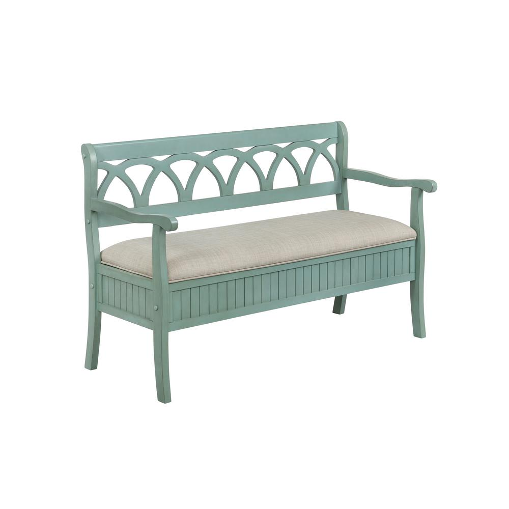 Sensational Powell Company Chelsea Teal Storage Bench Hd1084A19T The Short Links Chair Design For Home Short Linksinfo