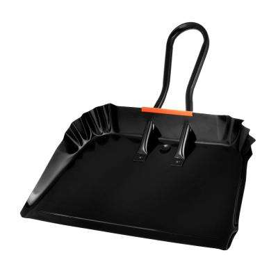 19 in. Black Heavy-Duty Metal Dust Pan