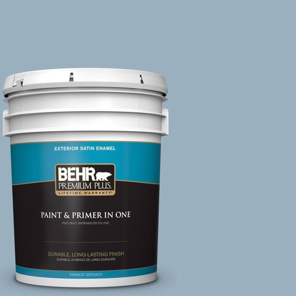 BEHR Premium Plus Home Decorators Collection 5-gal. #HDC-CT-24 Rainy Sidewalk Satin Enamel Exterior Paint