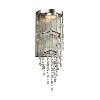 Stonesend 1-Light Silver Leaf Antique Led Wall Sconce