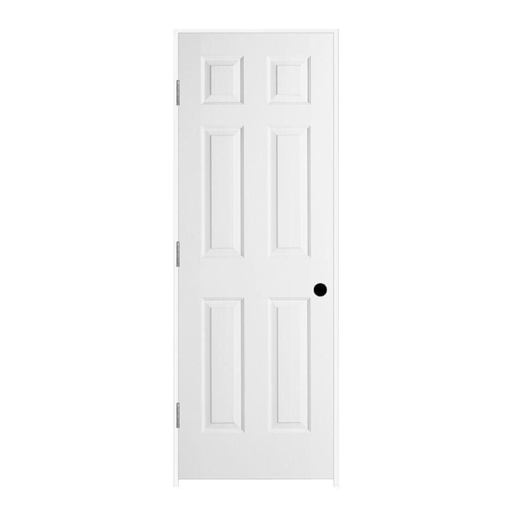 JELD-WEN 28 in. x 80 in. Colonist Primed Right-Hand Smooth Solid Core Molded Composite MDF Single Prehung Interior Door