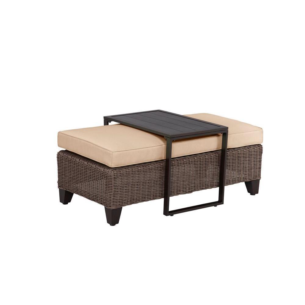 Vineyard Patio Ottoman/Coffee Table with Harvest Cushion -- CUSTOM