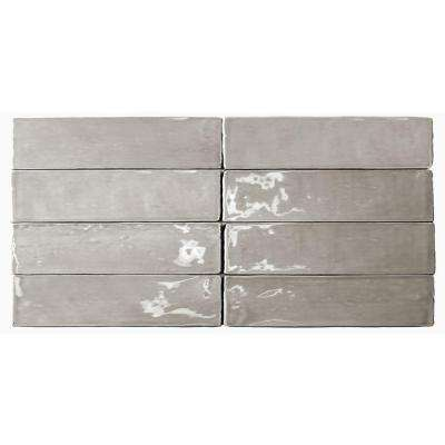 Catalina Gris Ceramic Wall Tile - 3 in. x 6 in. Tile Sample
