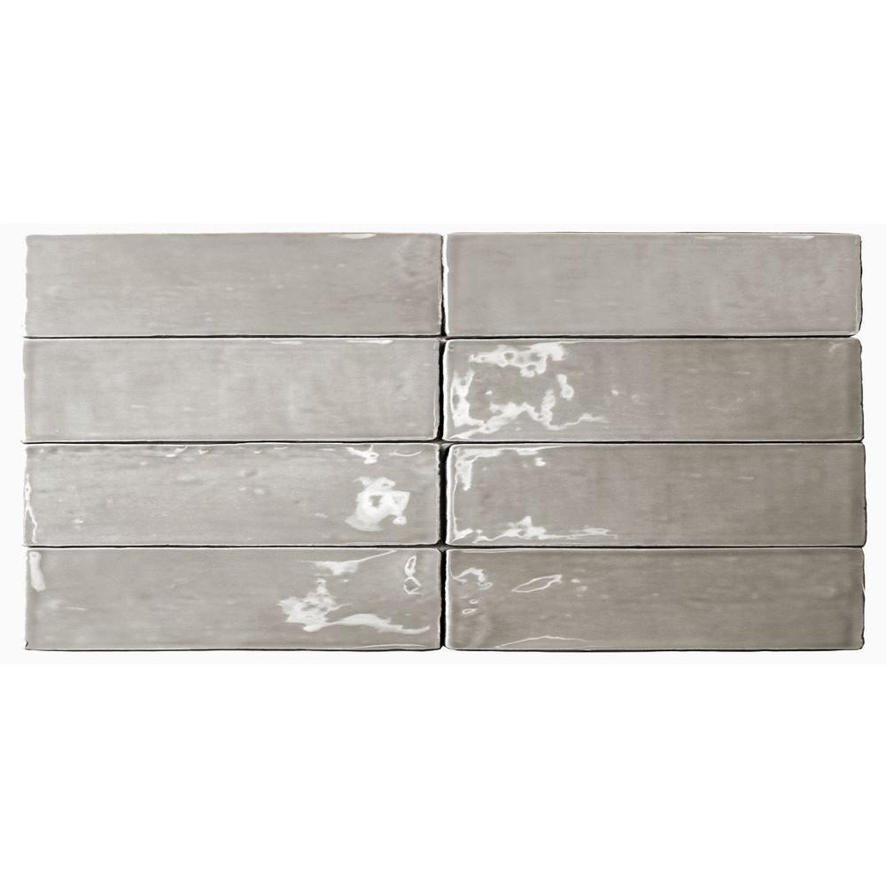 Catalina Gris Ceramic Wall Tile - 3 in. x 6 in. Tile Sample