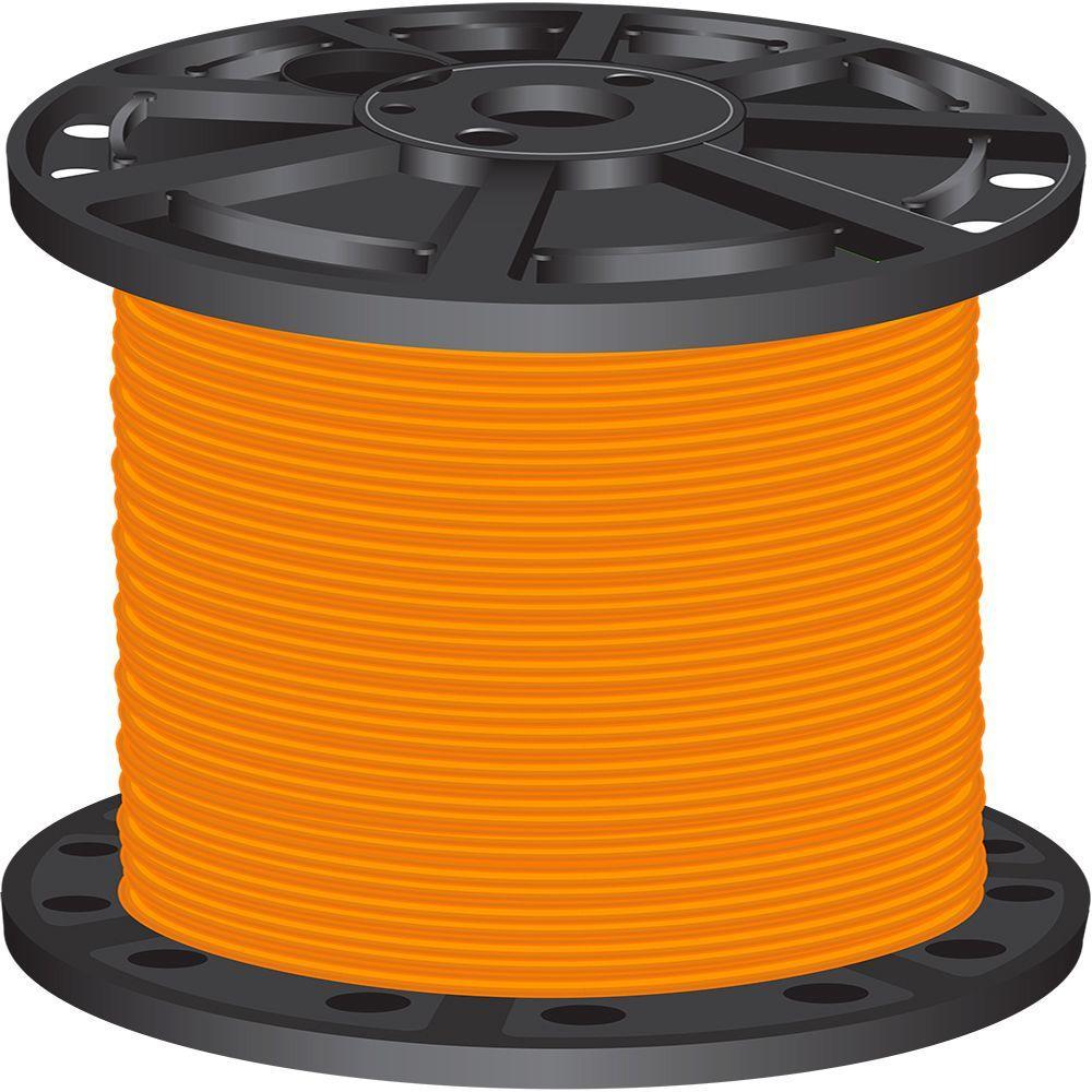 1,000 ft. 4 Orange Stranded CU SIMpull THHN Wire