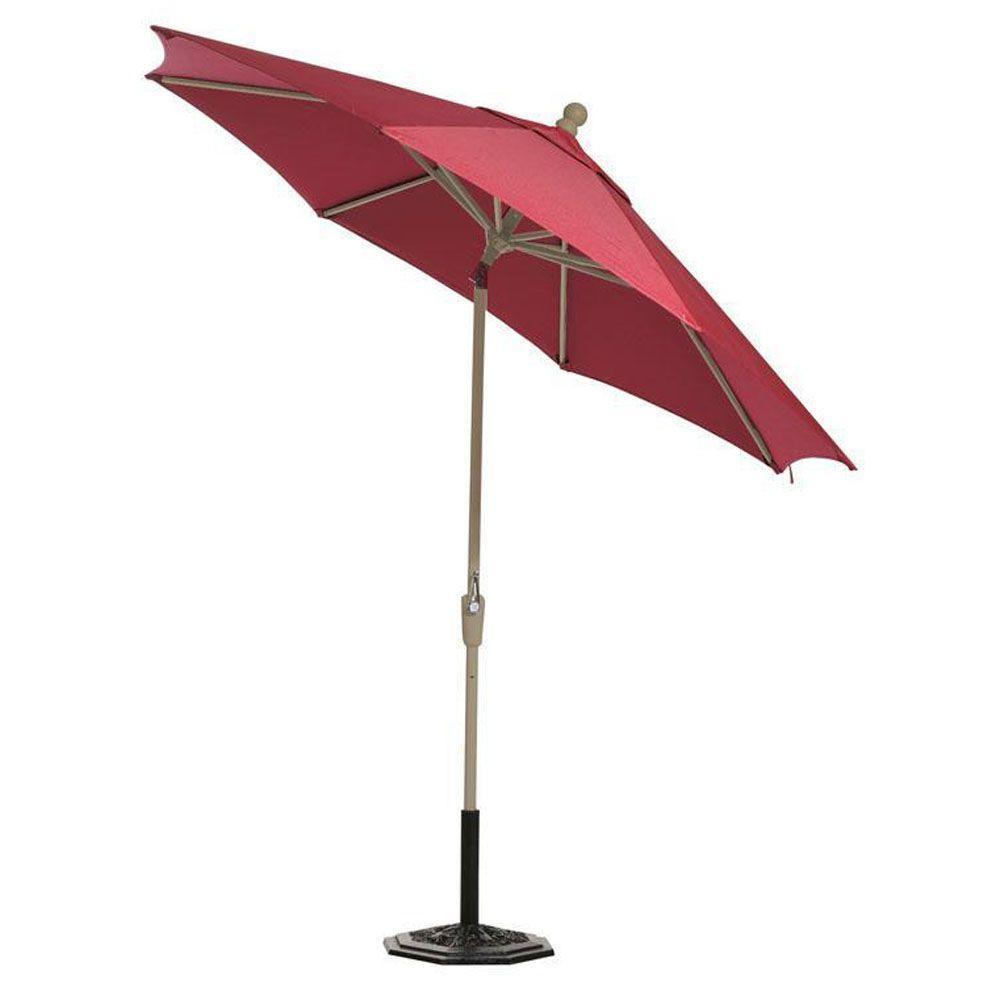 Home Decorators Collection Sunbrella 7-1/2 ft. Patio Umbrella in Red