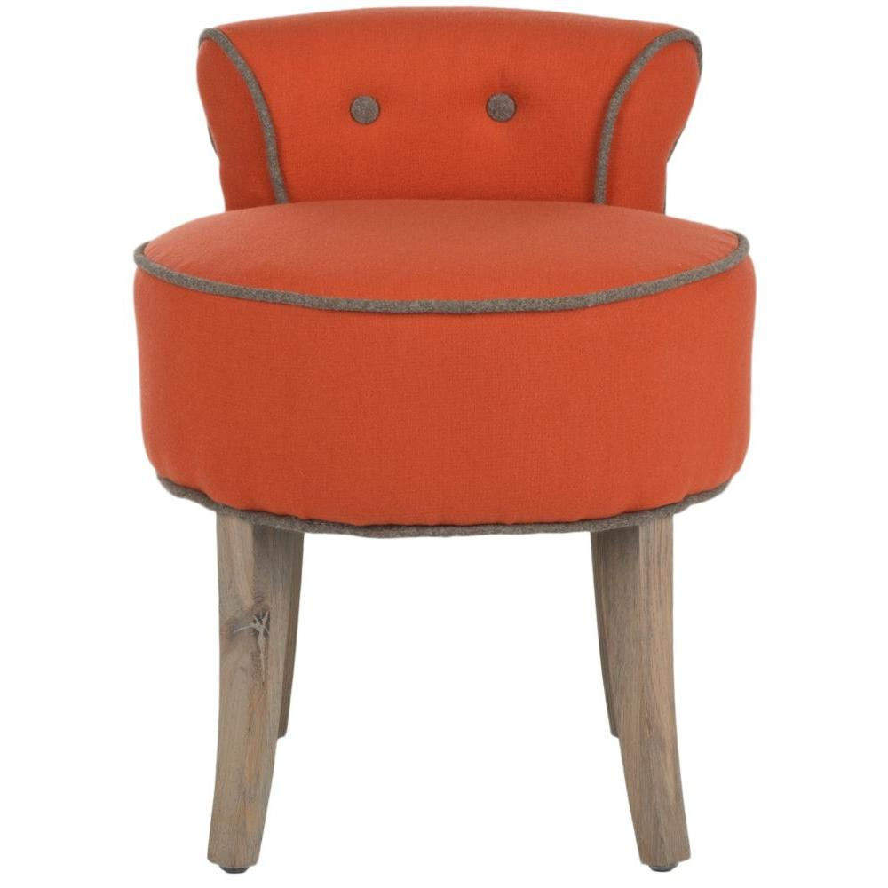 Georgia Burnt Orange Vanity Stool