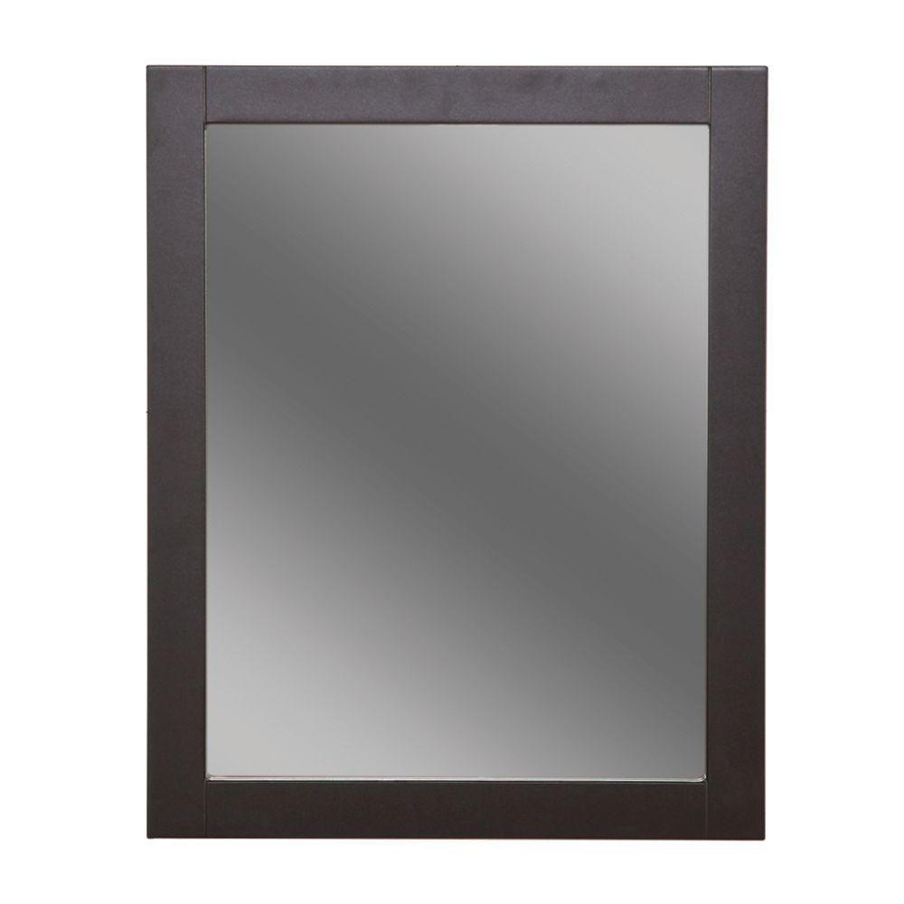 Framed Wall Mirror In Espresso Dmwm2430com E The Home Depot