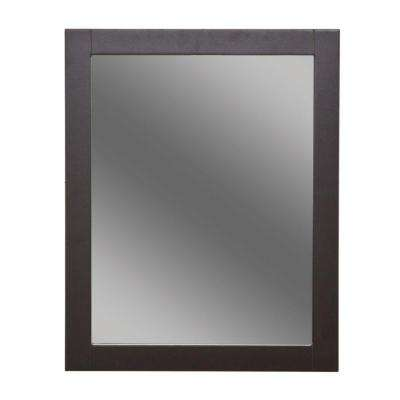 Unique Framed Wall Mirror in Espresso Pictures - Unique black framed bathroom mirror Model