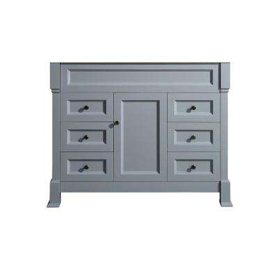 43 in. Main Cabinet Only in Gray with Antique Bronze Hardware