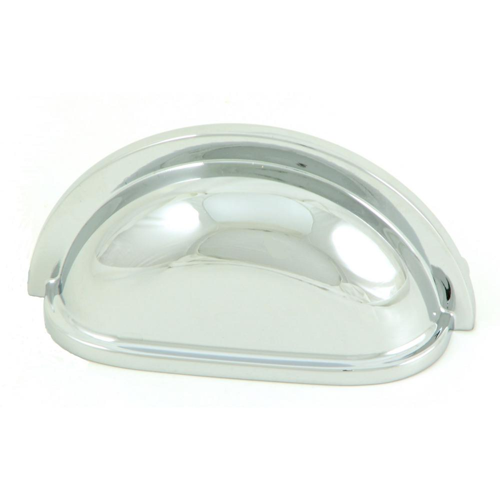 Stone Mill Hardware 3 In. Polished Chrome Cup Cabinet Pull